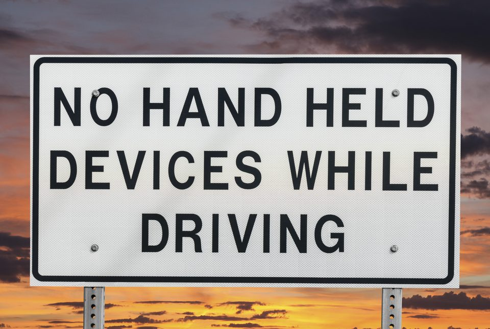 texting and driving banned